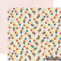Двусторонний лист бумаги от My Mind's Eye - Cut & Paste Collection by Jen Allyson - Presh Noted - Record, 30,5x30,5см - ScrapUA.com