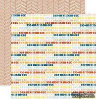 Двусторонний лист бумаги от My Mind's Eye - Cut & Paste Collection by Jen Allyson - Presh Good Times - Tribal, 30,5x30,5см - ScrapUA.com