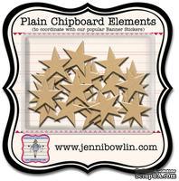 Набор фигурок из чипборда Jenni Bowlin Mini Chipboard Pieces - Star, 24 штуки