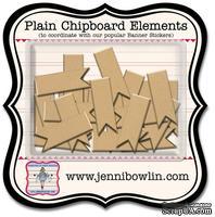 Набор фигурок из чипборда Jenni Bowlin Mini Chipboard Pieces - Flag, 24 штуки