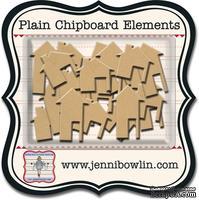 Набор фигурок из чипборда Jenni Bowlin Mini Chipboard Pieces - Houses, 24 штуки
