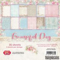 Набор односторонней скрапбумаги от от Craft&You Design - BEAUTIFUL DAY, 15,2x 15,2 см, 36 шт