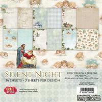 Набор односторонней скрапбумаги от Craft & You Design - Silent Night, 15x15 см, 36 шт, 190 гр/м2