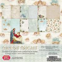 Набор плотной скрапбумаги от Craft & You Design - Silent Night, 30x30 см, 12 шт, 250 гр/м3