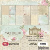 Набор односторонней скрапбумаги от Craft & You Design - Wedding Garden, 15x15 см, 36 шт, 190 гр/м2