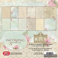 Набор плотной скрапбумаги от Craft & You Design - Wedding Garden, 30x30 см, 12 шт, 250 гр/м3