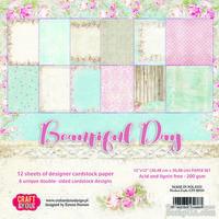 Набор двусторонней скрапбумаги от Craft&You Design - BEAUTIFUL DAY, 30,5x30,5 см., 12 шт