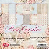 Набор двусторонней скрапбумаги от Craft&You Design - ROSE GARDEN, 30,5 × 30,5 см., 12 шт