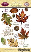 Акриловые штампы от JustRite - Shabby Chic Autumn Leaves - ScrapUA.com