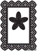 Набор лезвий Marianne Design Craftables - Lacey Rectangle & Flower, 4 штуки