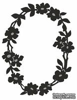 Лезвие Craftables Dies - Flower Border Oval