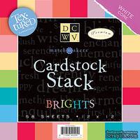 Набор кардстока DCWV - MatchMaker Brights Textured Cardstock Stack, 30х30 см, 19 листов