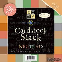 Набор кардстока DCWV - MatchMaker Neutrals Textured Cardstock Stack, 30х30 см, 19 листов