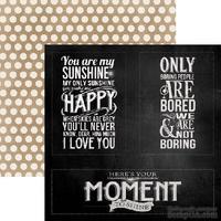 Лист скрапбумаги My Mind's Eye Moments, 30х30 см, двусторонняя
