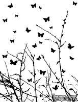 Резиновый штамп от Memory Box -  Butterfly Breeze
