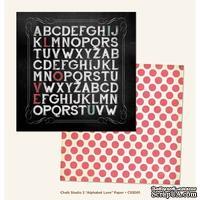 Лист скрапбумаги My Mind's Eye Alphabet Love, 30х30 см, двусторонняя