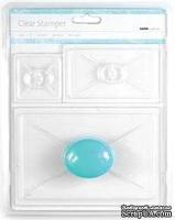 """Набор акриловых блоков с ручками """"Clear Stamp Stamper"""" от Kaisercraft, размер : 10,16х14,9 см., 6,03х10,16 см., 5.08х5.08 см., 3 шт."""