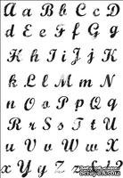 Акриловый штамп от Kaisercraft - Винтажный Алфавит - Vintage Script Alphabet CS782