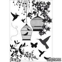 Акриловые штампы от Kaisercraft - Humming bird, 7 шт