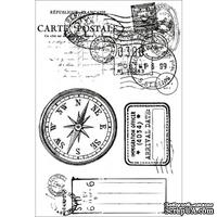 Акриловые штампы от Kaisercraft - Check in Clear Stamp, 4 шт