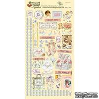 Набор наклеек Crafty Secrets - Baby Girl - Heartwarming Vintage Cardstock Stickers