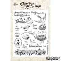 Акриловые штампы Crafty Secrets - Bird Lovers, 15х20 см