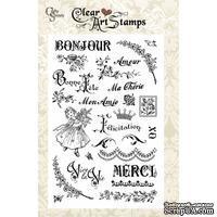Акриловые штампы Crafty Secrets - Bonjour Merci, 10х15 см