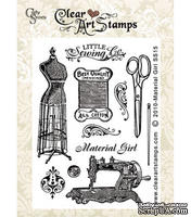 Акриловый штамп Crafty Secrets Clear Stamps - Material Girl