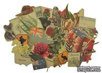 Набор декоративных элементов от Kaisercraft - Великая южная земля, 50 шт