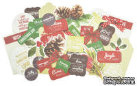 Набор высечек от Kaisercraft - Basecoat Christmas Collection - Collectables - Die Cut Cardstock Pieces, 50 шт.