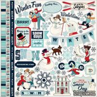 Набор наклеек Carta Bella - Snow Fun - Sticker  размер 30х30 см