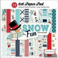 Набор двусторонней бумаги Carta Bella - Snow Fun - Paper Pad, размер 15х15 см, 24 листа
