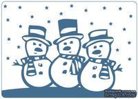 Папки для тиснения Crafts Too Embossing Folder -Snowmen