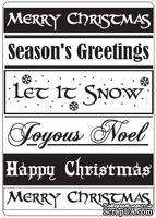 Папки для тиснения Crafts Too Embossing Folder - Christmas Greetings
