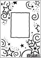 Папка для тиснения Crafts Too Embossing Folder - Stars Frame