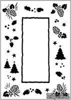 Папка для тиснения Crafts Too Embossing Folder - Christmas Trees Frame
