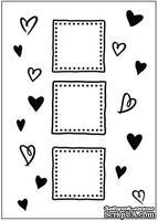 Папка для тиснения Crafts Too Embossing Folder - Hearts/Frames