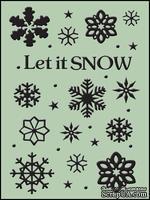 Папки для тиснения Crafts Too Embossing Folder - Let it Snow
