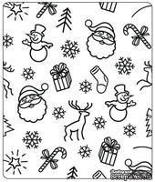 Папки для тиснения Crafts Too Embossing Folder - Christmas Background