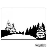 Папка для тиснения Crafts Too Embossing Folder - Pine Tree Scene