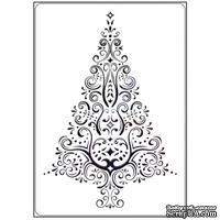 Папка для тиснения Crafts Too - Swirl Christmas Tree