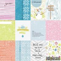 Лист с карточками от Lemon Owl - Cozy Winter, Mini cards RU, 30x30 см, 403149