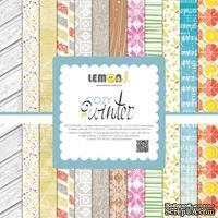 Набор бумаги, тэгов и высечек от Lemon Owl - Cozy Winter, Kit EN , 12 листов, 1 лист тэгов, 2 листа висечек, 2 листа с рамками