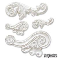 Гипсовые украшения от Melissa Frances - Scroll Applique, 4 шт