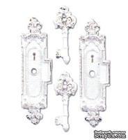 Гипсовые украшения от Melissa Frances Ключики-скважины, 5*12,7 см 4 шт.