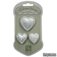 Гипсовые украшения от Melissa Frances - With All my Heart, 3 шт