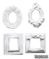 Гипсовое украшение от Melissa Frances - Formal Frames  -  Set of 4.В наборе рамки разной формы. Размер 3,3 см (высота). В наборе 4 шт.