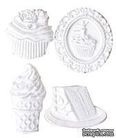 Гипсовые фигурки от Melissa Frances - Sweet Life - Вкусняшки, 4 шт 34x37мм