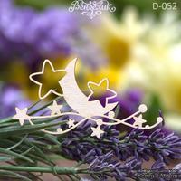Чипборд от Вензелик - Луна со звездочками, 35*65 мм