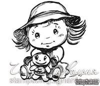 Акриловый штамп D019 Ребенок с игрушкой, размер 4,7 * 5,1 см